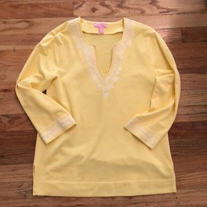 Mellow Yellow Lilly Pulitzer Embroidered Tunic